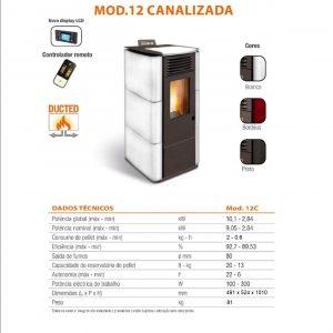 Salamandra Cerâmica Mod.12C